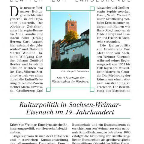 126 - Kulturpolitik in Sachsen-Weimar-Eisenach im 19. Jahrhundert