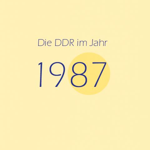 Die DDR im Jahr 1987