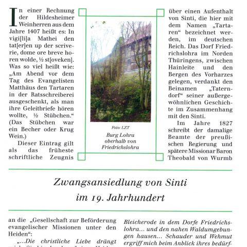 107 - Zwangsansiedlung von Sinti im 19. Jahrhundert