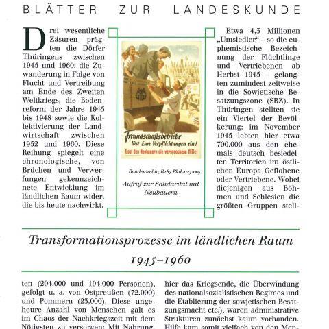 110 -  Transformationsprozesse im ländlichen Raum 1945-1960