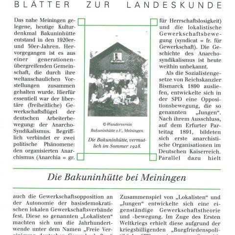 111 - Die Bakuninhütte bei Meiningen