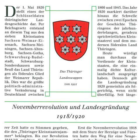 116 - Novemberrevolution und Landesgründung 1918/1919