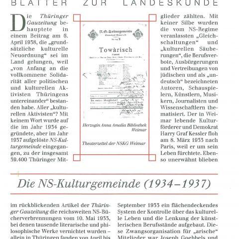 122 - Die NS-Kulturgemeinde (1934-1937)