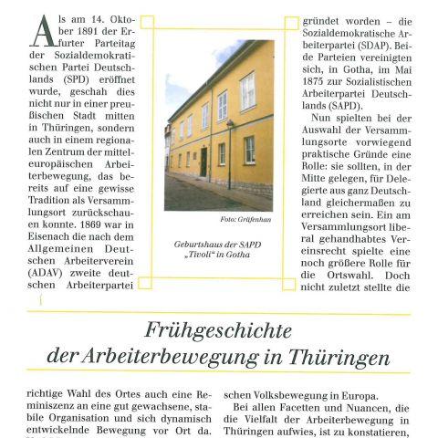 92 - Frühgeschichte der Arbeiterbewegung in Thüringen