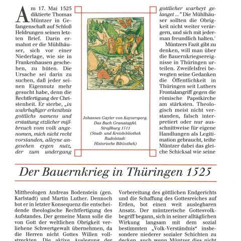 Der Bauernkrieg in Thüringen 1525