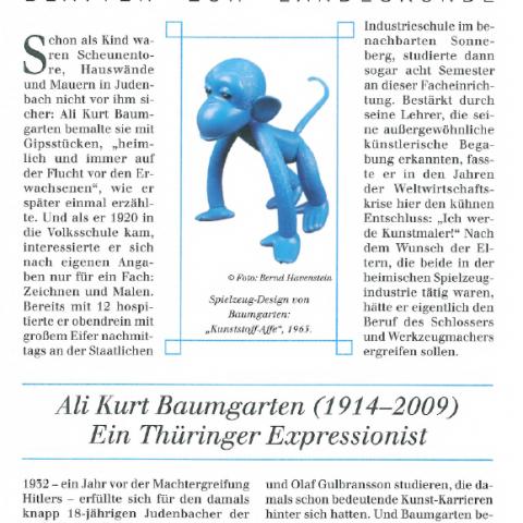 128 - Ali Kurt Baumgarten (1914-2009). Ein Thüringer Expressionist