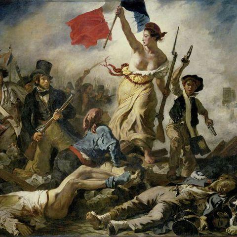 Eugène Delacroix Die Freiheit führt das Volk 1830