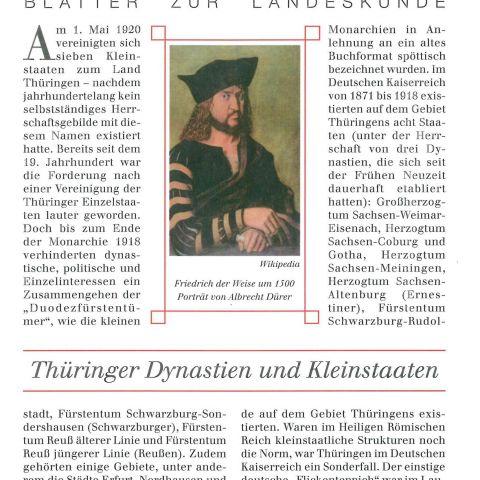 124 - Thüringer Dynastien und Kleinstaaten