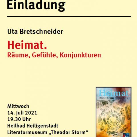 Buchvorstellung Uta Bretschneider: Heimat. Räume, Gefühle, Konjunkturen