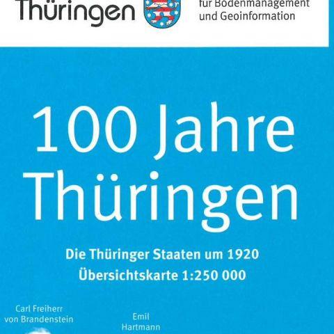 Die Thüringer Staaten um 1920 Übersichtskarte