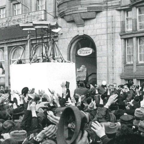 Willy Brandt in Erfurt 19.März 1970