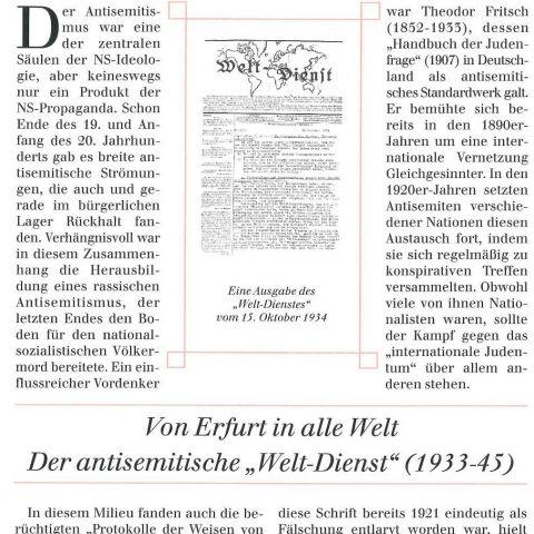 95 - Von Erfurt in alle Welt. Der antisemitische