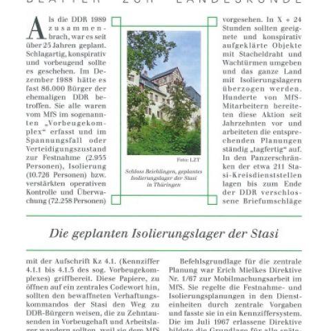 103 - Die geplanten Isolierungslager der Stasi