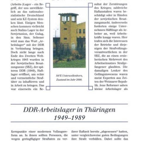 85 - DDR-Arbeitslager in Thüringen 1949-1989