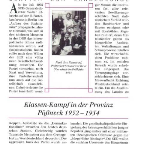 81 - Klassen-Kampf in der Provinz. Pößneck 1952-1954