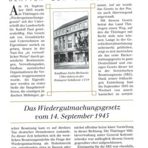 79 - Das Wiedergutmachungsgesetz vom 14. September 1945