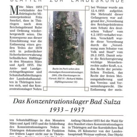 42 - Das Konzentrationslager Bad Sulza 1933 - 1937