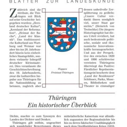 40 - Thüringen. Ein historischer Überblick