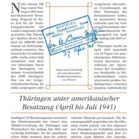 Thüringen unter amerikanischer Besatzung (April bis Juli 1945)