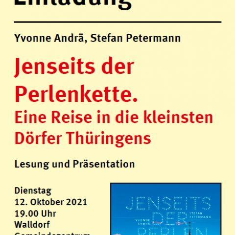 """""""Jenseits der Perlenkette. Eine Reise in die kleinsten Dörfer Thüringens"""""""