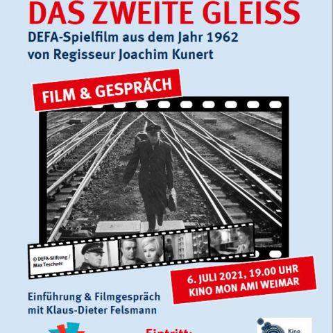 """""""Das zweite Gleiß"""" (DDR 1962) Film-Tour """"Inszenierte Realität…"""" zum 75. Jahrestag der DEFA-Gründung mit Klaus-Dieter Felsmann"""