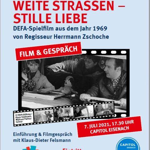 """""""Weite Straßen – stille Liebe"""" (DDR 1969) Film-Tour """"Inszenierte Realität…"""" zum 75. Jahrestag der DEFA-Gründung mit Klaus-Dieter Felsmann"""