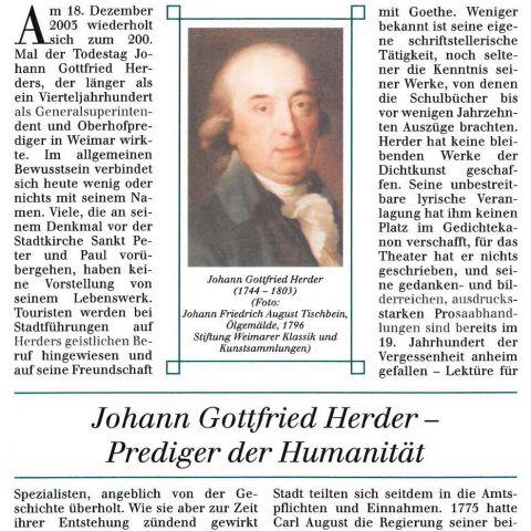 [25] - Johann Gottfried Herder – Prediger der Humanität