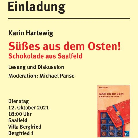 Karin Hartewig: Süßes aus dem Osten! Schokolade aus Saalfeld