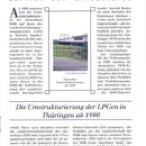 94 - Die Umstrukturierung der LPGen in Thüringen ab 1990