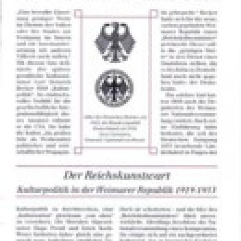 96 - Der Reichskunstwart. Kulturpolitik in der Weimarer Republik 1919-1933