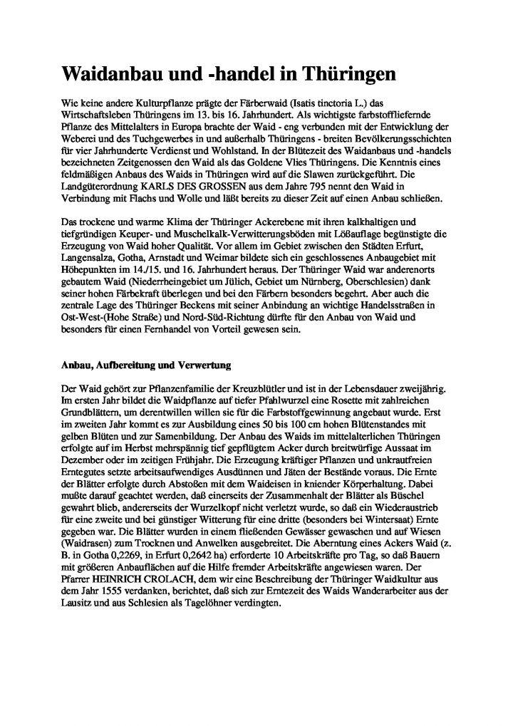 [XX] - Waidanbau und -handel in Thüringen