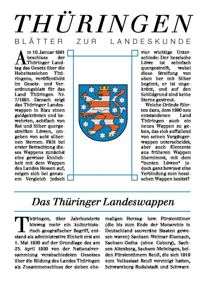 [XX] - Das Thüringer Landeswappen