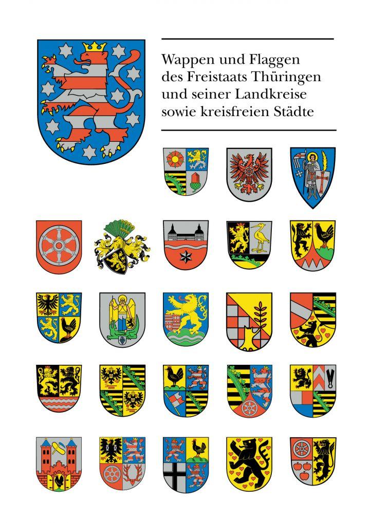 Wappen und Flaggen des Freistaates Thüringen und seiner Landkreise sowie kreisfreien Städte