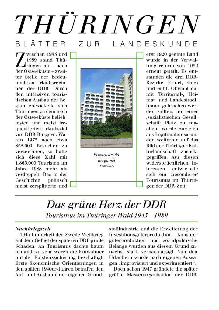 [68] - Das grüne Herz der DDR Tourismus im Thüringer Wald 1945 – 1989