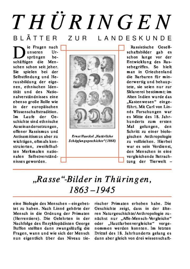 "[63] - ""Rasse""-Bilder in Thüringen, 1863-1945"