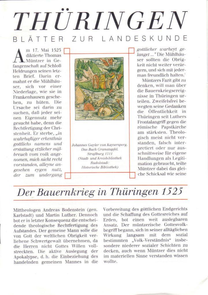 [XX] - Der Bauernkrieg in Thüringen 1525