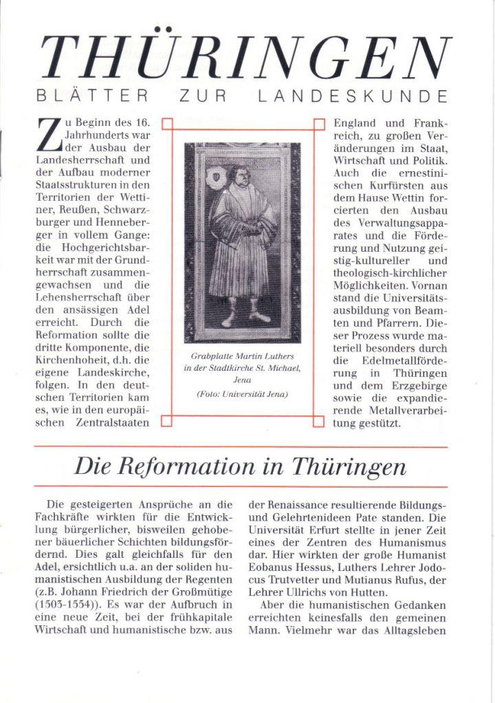 [XX] - Die Reformation in Thüringen
