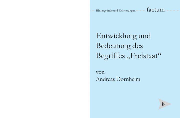 """Entwicklung und Bedeutung des Begriffes """"Freistaat"""""""