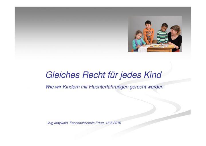 Jörg Maywald: Gleiches Recht für jedes Kind