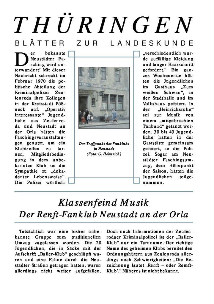 [65] - Klassenfeind Musik Der Renft-Fanklub Neustadt an der Orla