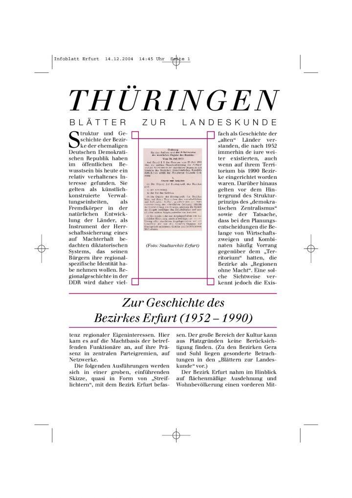 [45] - Zur Geschichte des Bezirkes Erfurt (1952 – 1990)