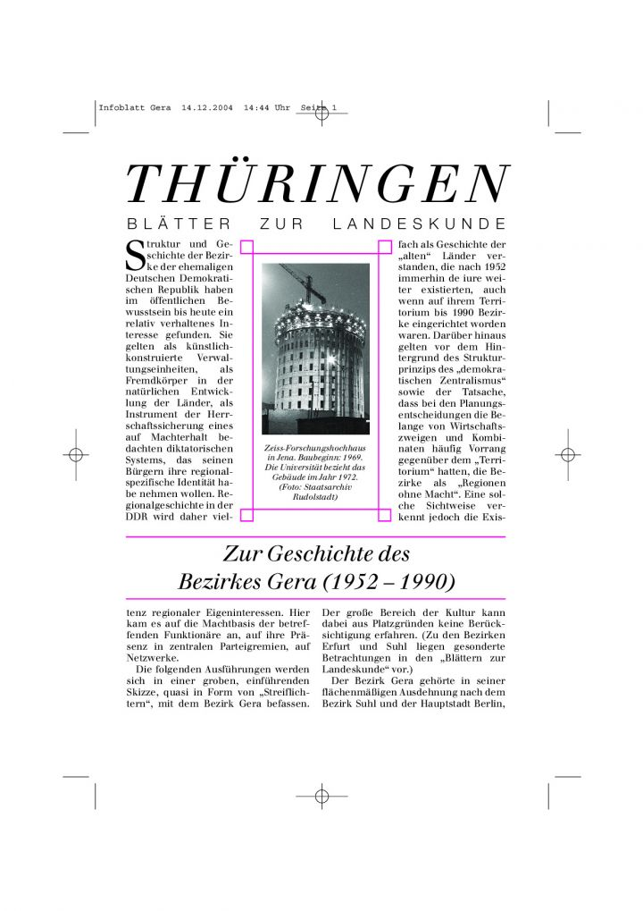 [46] - Zur Geschichte des Bezirkes Gera (1952 – 1990)