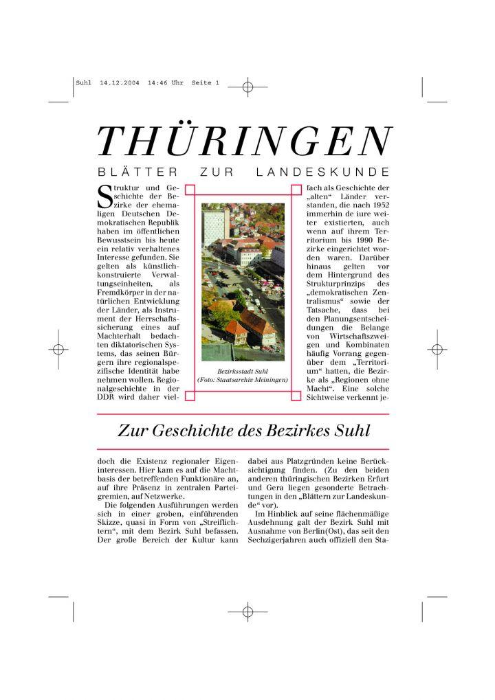 [47] - Zur Geschichte des Bezirkes Suhl