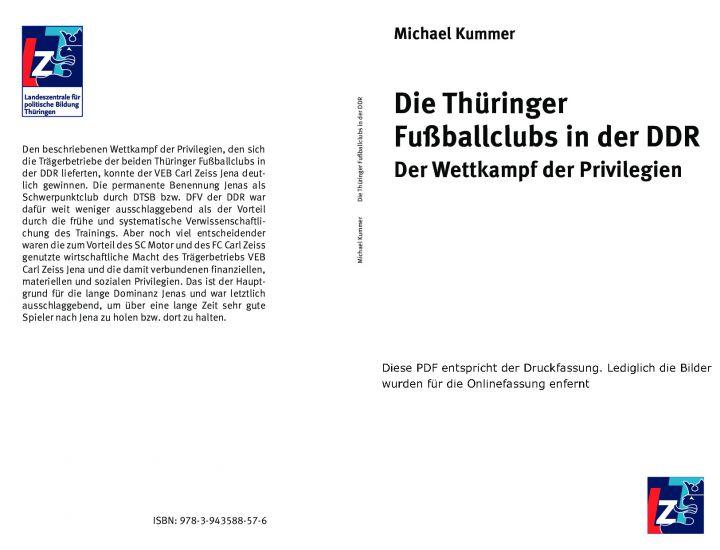 Die Thüringer Fußballclubs in der DDR - Der Wettkampf der Privilegien