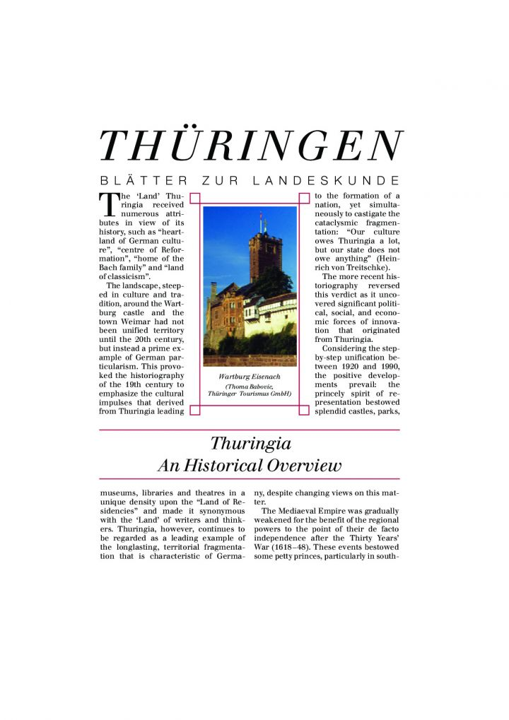 Thuringia. An Historical Overview