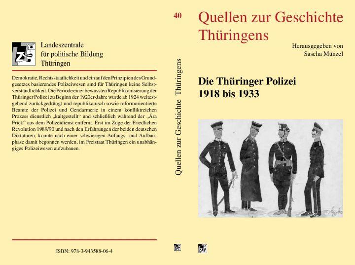 Die Thüringer Polizei 1918 bis 1933