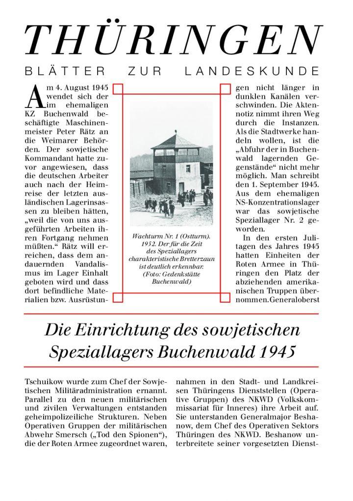 [56] - Die Einrichtung des sowjetischen Speziallagers Buchenwald 1945