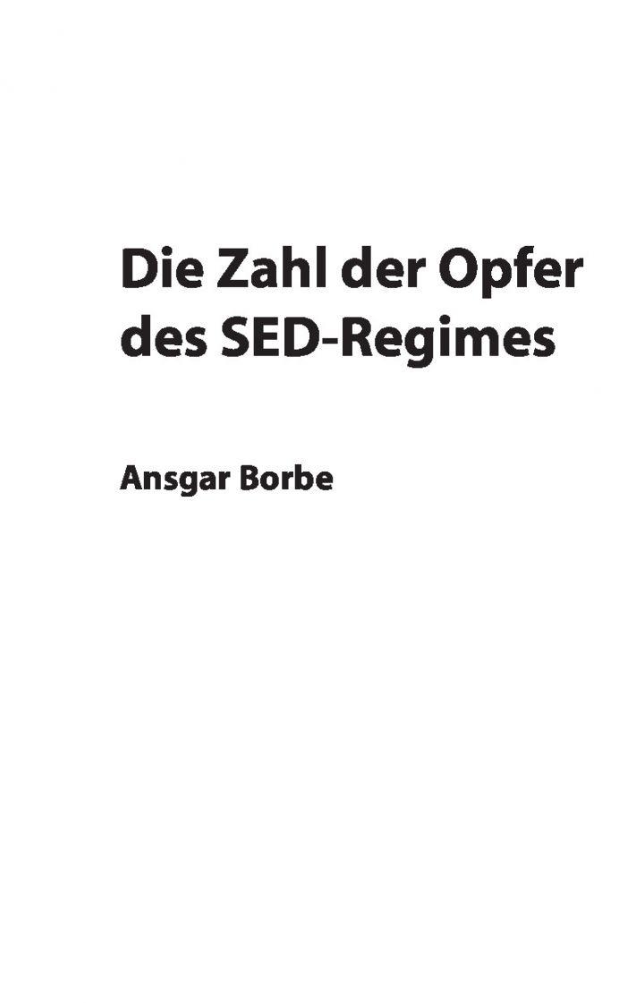 Die Zahl der Opfer des SED-Regimes