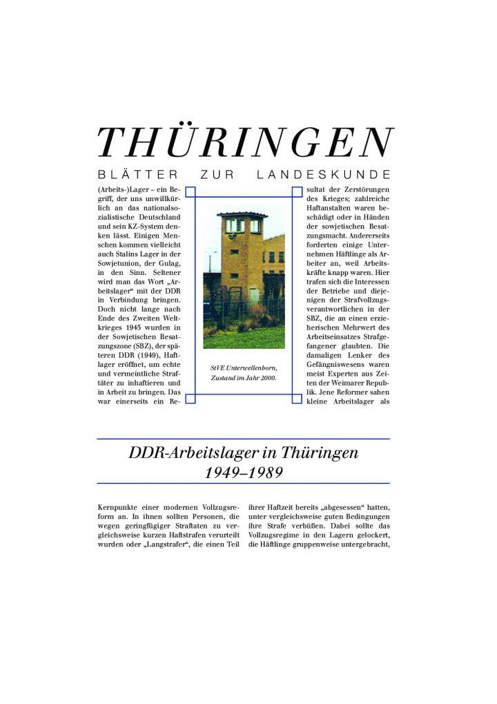 [85] - DDR-Arbeitslager in Thüringen 1949–1989