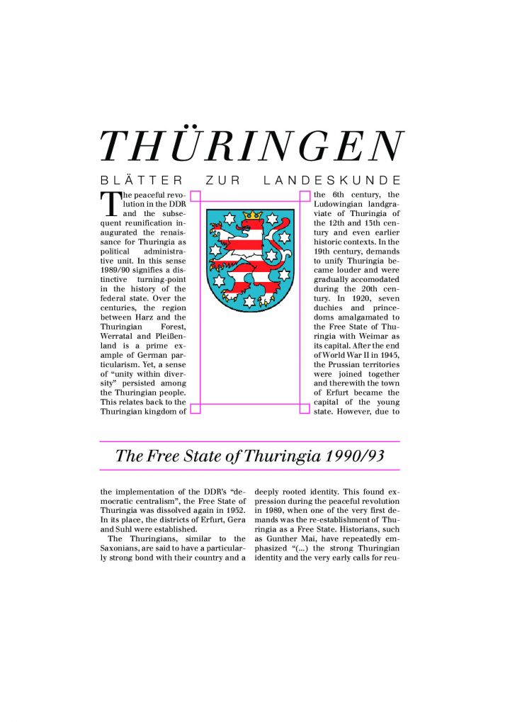 The Free State of Thuringia 1990/93